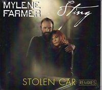 MAXI CD Mylène FARMER & STING Stolen Car REMIXES 5-TRACK Digipack NEW SEALED