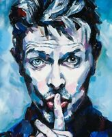 David Bowie canvas print  from original painting by Lana Arkhi 50 x 75 cm