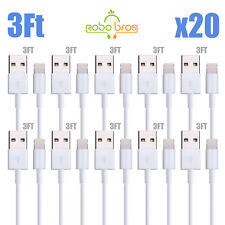20X 8 Pin USB Charger Cord Cable for iPhone 6S 6 5S 5 7 7Plus  Wholesale Lot