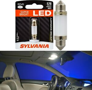 Sylvania ZEVO LED Light 578 White 6000K One Bulb Interior Map Replacement OE