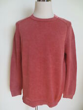 OLYMP garment dyed rundhals Pullover L vintage wash rosa Baumwolle /L