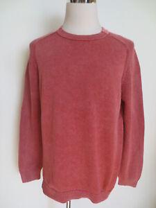 OLYMP garment dyed rundhals Pullover L vintage wash rosa Baumwolle /L