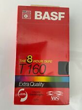 BASF T-160 8 Hour Extra Quality VHS Cassette Blank Tape Stereo New Sealed
