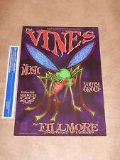 Original 2003 The Vines Bill Graham The Filmore San Francisco Concert Poster