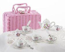 Delton Children's Porcelain Tea Set for 4-Small Size-Flower Design #8088-6