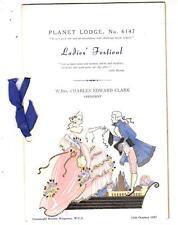 OS053.  Masons. Planet Lodge. No.6147. Ladies Festival, 1957.