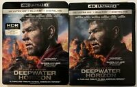 DEEPWATER HORIZON 4K ULTRA HD BLU RAY 2 DISC SET + SLIPCOVER SLEEVE FREE SHIPPIN