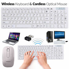 Slim 2.4GHz Wireless Keyboard and Cordless Mouse Combo Set For PC Laptop Desktop