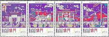Macau - Tempel A-Má Satz Viererstreifen postfrisch 1997 Mi. 908-911