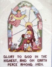 Bucilla Madonna and Child Needlepoint Kit 60665 Glory To God Peace Among Men New