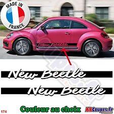 2 Bandes Bas de caisse New Beetle - Autocollants Stickers Volkswagen Cox - 174