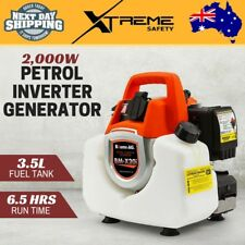 New Portable 2,000W Petrol Inverter Generator Rated Camping 2.0kVA Max Baumr-AG