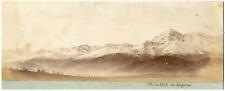 France, Pic du Midi de Bigorre, vue panoramique  Vintage albumen print Tirage