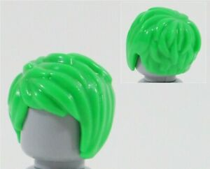 NEW LEGO GREEN HAIR PART X1 TOUSLED SIDEPART - CITY MINIFIGURE PART