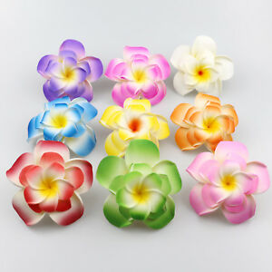 100x 5cm/6cm/9cm Plumeria Foam Frangipani Flowers For Wedding Parties Decoration
