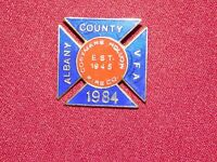 VINTAGE PIN PINBACK 1984 COEYMANS HOLLOW FIRE CO ALBANY COUNTY VFA DEPARTMENT