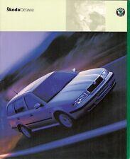 SKODA Octavia 2000 UK Opuscolo Vendite sul mercato immobiliare di due volumi 1.6 2.0 1.8 T 1.9TDi