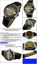 Fresko-Designer esqueletos-Automatik reloj japón-Miyota mecanismo fondo de cristal nuevo