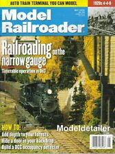 Model Railroader May 00 Narrow Gauge 0n3 Trees Forests Amtrak Auto Train DCC