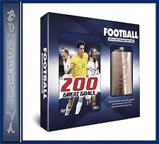 FOOTBALL - 200 GREAT GOALS - DVD & HIP FLASK GIFT SET **BRAND NEW **