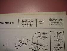 clinton parts list,clinton 100-2000,190-2000 illustrated antique clinton engine