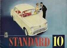 Standard Ten 10 Saloon 1957-58 UK Market Sales Brochure
