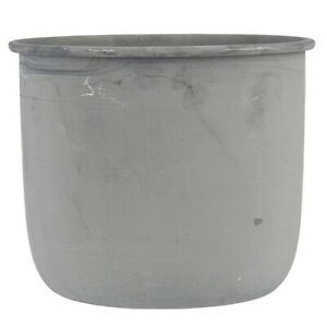 Medium Round Metal Pot for Flowers and Herbs by Ib Laursen