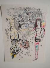 "Marc Chagall ""Acrobat At Play"" Lithograph"