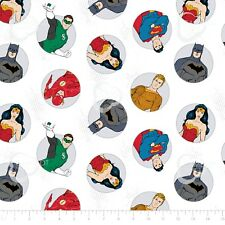 Marvel Justice League Activated Batman Block Black Cotton fabric by the yard