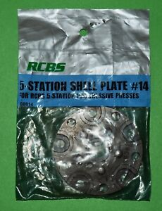 RCBS 5 Station Shell Plate #14-(88814)-NOS-(no packaging)