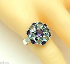 Anelli di lusso blu, misura anello 17