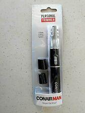Conair Nose Ear Eyebrow Sideburns Hair Trimmer Man Cordless AAA Battery MT33N
