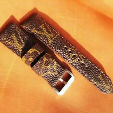 Handmade Watch Strap From Louis Vuitton Bags Custom Made To Order Fits iWatch