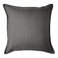 Charcoal Grey Textured Semi Plain Cushions, Covers + Pillows. McAlister Savannah