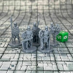 Skeleton Warriors Dungeons and Dragons Miniatures (D&D DnD) 28mm 32mm Wargaming