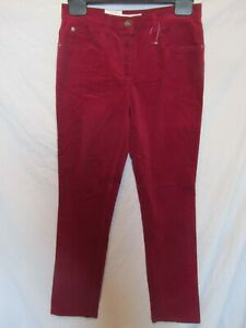 "BRAX Mary Women's Burgundy Slim Fit Cords Jeans; Size 34 /UK Waist 30"", Leg 32"""