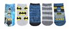 BATMAN DC CAPED CRUSADER 5-Pack Low Cut Socks Boys Ages 3-5 Shoe Size 7.5 - 11