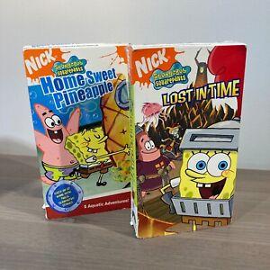 Nickelodeon Spongebob Lost in Time & Home Sweet Pineapple Vhs READ DESCRIPTION
