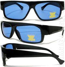 Retro Blue Lens Cholo Sunglasses LOC Style Lowrider OG Style NLBL