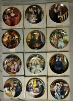 Gone With The Wind Golden Anniversary Collector Plates Complete Set Of 12 w/COA