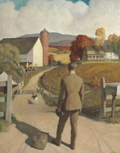 Newell Convers Wyeth The Homecoming Poster Reproduction Giclee Canvas Print