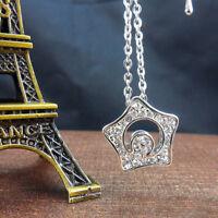 Fairy  Drama Boys Over Flowers Kissing Star Hollow Moon Crystal Necklace Pendant