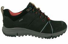 BNIB Clarks Ladies Tri Trek GTX Black Leather Trigenic Gore Tex Walking Shoes