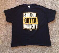 Men's Size 3XL Black Iowa Hawkeyes Short Sleeve Shirt 100% Cotton