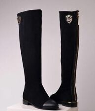 Ladies Women Suede Knee High Length Boots Shoes UK 3