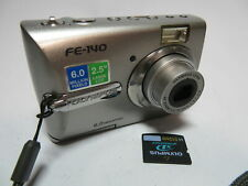 "Olympus FE-140 AA Battery 6MP 3x Zoom 2.5"" Screen Digital Camera & 512MB XD Card"