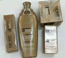 PURE WHITE GOLD GLOWING LOTION 400ml, Fade serum 50ml, Tube Cream & SOAP 4pcs