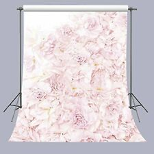 FUERMOR Blooming pink Roses Floral Wall Photography Backdrop/Background 5x7ft