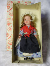 "Lot05 Vintage c1950s BELGIQUE 6"" DOLL - Traditional Dress Belgium"