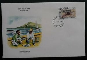 1980 Seychelles New Currency Cover ties 1.5R stamps cd Seychelles